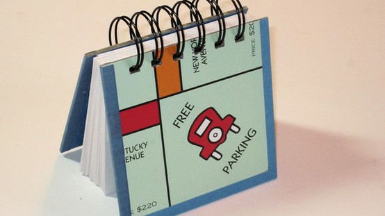 gift idea - recycled board game notebook