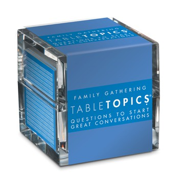 gift idea - table topics family gathering