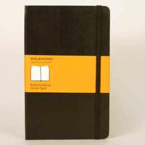 Moleskine Black Large Ruled Notebook