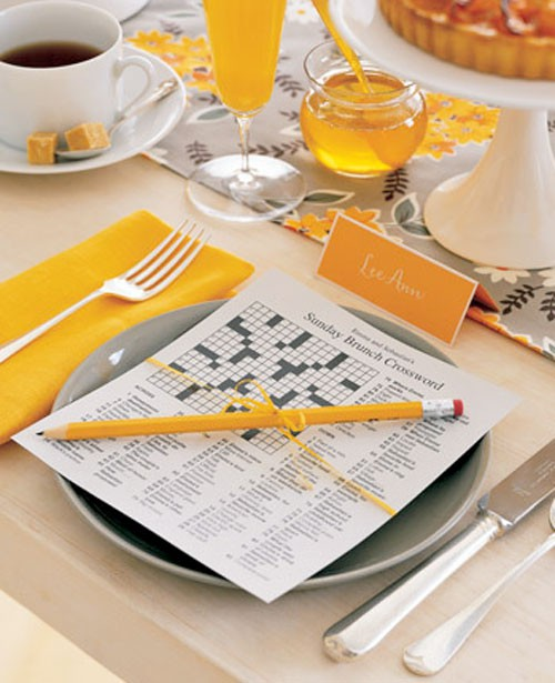 fathers day brunch table setting idea