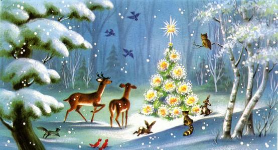 Vintage Christmas Card Image