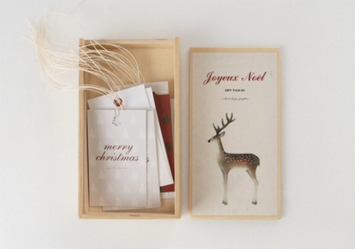 Christmas gift ideas - Boxed tag set