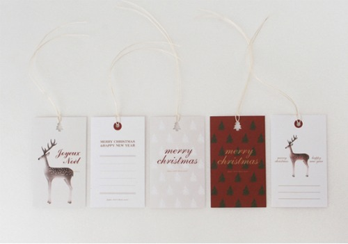 Christmas gift ideas - boxed gift tag set - O-Check Design Graphics