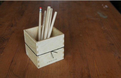 Gift ideas from O-Check Design Graphics | Wood Pencil Stand