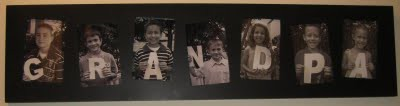 Christmas Gift Ideas for Grandparents & Extended Family #1: grandpa photo collage
