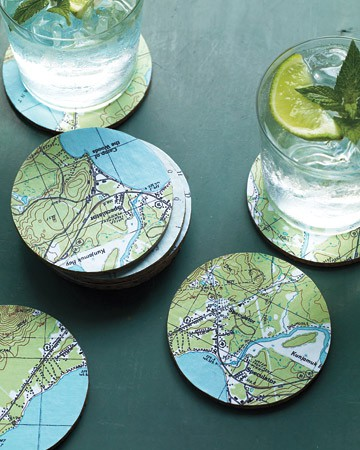 Christmas Gift Ideas - Map Coasters