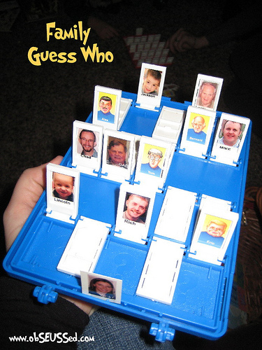 Christmas Gift Ideas - Personalised Guess Who Game