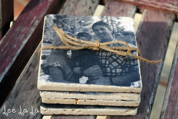 Christmas Gift Ideas - Homemade Photo Coasters