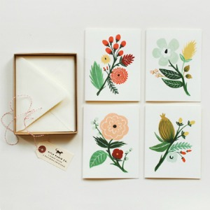 Botanical card set from Rifle Paper Co.