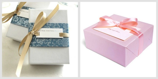 wedding gift wrapping collage
